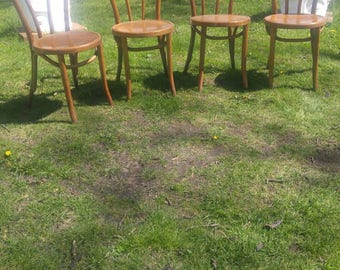 Vintage Bentwood Chairs Set of 4
