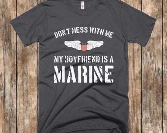 Marine Girlfriend Shirt, Marine Girlfriend Clothing, Marine Girlfriend, Marine Corps Shirt, Military Shirt, Military Girlfriend