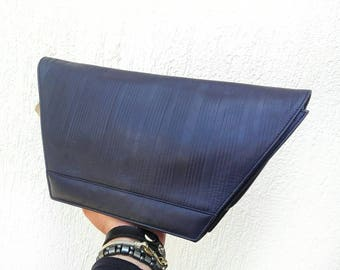 GIANNI VERSACE vintage bag sac tasche borsa purple leather 80s NEW with tag shoulder & handbag collection 1985