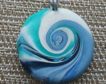 Ocean wave pendant