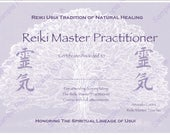 Reiki certificates custom therapist toolkits by reikiwellnessuk download complete set reiki certificate templates x4 landscape level 1 level 2 yelopaper Image collections