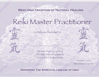 Reiki certificate etsy for Reiki certificate template software