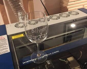24 Custom Engraved Wine Glasses