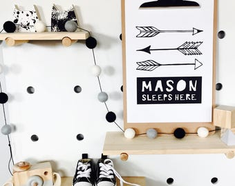 Monochrome Printable Nursery Print, Baby Boy, Nursery Decor, Kids Room Decor, Baby Room / Nursery Wall Art