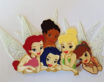 Tinker Bell Disney's Fairies Iron on Patch - Pixie Applique - Ready to Ship