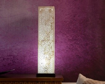 Table Lamp - Floor Lamp - Marble Glow Lattice Moroccan Lamp Base Living Room Decor Living Room Lamps