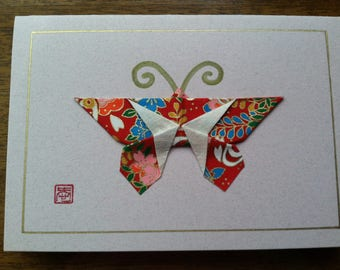 Handmade Origami Butterfly Card (Small)