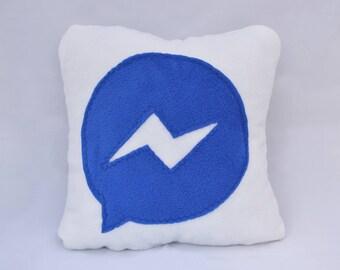 12 x 12 facebook messenger pillow - handmade pillow - decorative pillow - geekery pillow