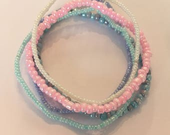 Pastel stacking bracelets