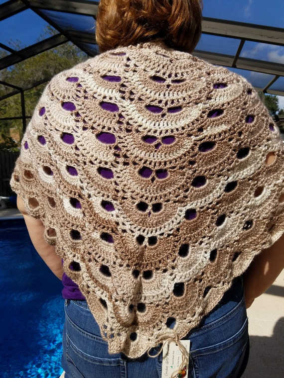 Made to Order -  Crochet Virus Shawl - Great Gift