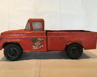 Vintage Buddy L Traveling Zoo Pick Up Truck, Pressed Steel Toy Vehicle