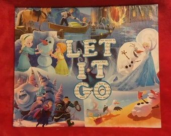 Frozen inspired collage canvas board