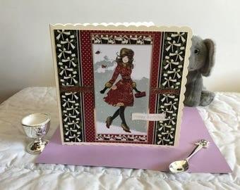Elegant Birthday Card, Birthday Card, Bday Card, Bday, Happy Birthday, Happy Birthday Card, Elegant Lady Card