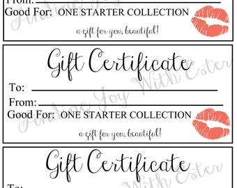 Lipsense Starter Collection Gift Certificate Coral