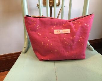 Pink make up bag