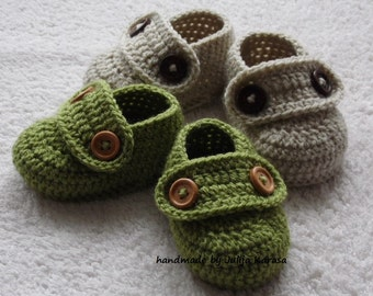 Baby shoes crochet, handmade crochet baby booties, newborn shower gift, booties for baby twins, booty for newborn, 0-3 m or 3-6 m
