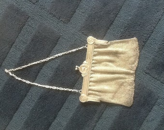 Old silver evening bag