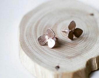 hydrangea earrings, handmade earrings, earstuds, flowers