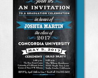 2017 Graduation Announcments, Unique Graduation Announcement, Printed Photo Graduation Invitations, Photo Collage Grad Announcement, DI-6223