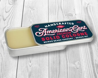 Solid Cologne / Barbershop scent / American Gent / beard oil / beard balm / gifts for him / gifts for men / birthday gift / grooming