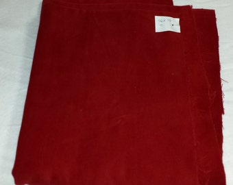 """46"""" x 58""""  1-1/3 Yards Vintage Red Christmas Stocking Velvet for Sewing & Crafts"""