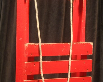Vintage Red Sledge  - (U13)