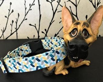 Blue Confetti Dog Collar