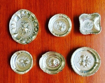 German Silver, Small Antics Dishes, Silver 800, Hammered by hand. German silver, Fruits Decoration, Silver Collectors, Dish Collector