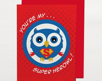 Superherowl Greetings Card