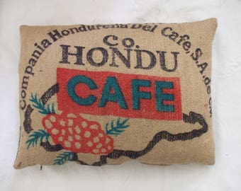 Recyled coffee sack cushion cover