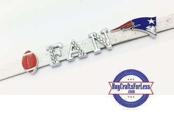 NEW ENGLAND 8mm Charms and Rhinestone Letters for 8mm Slider Bracelets, Collars, Key Rings  +FREE Shipping & Discounts*