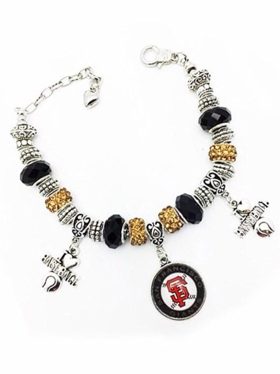 SAN FRANCISCO Bracelet, Crystal & Silver Beads *FREE SHiPPiNG**