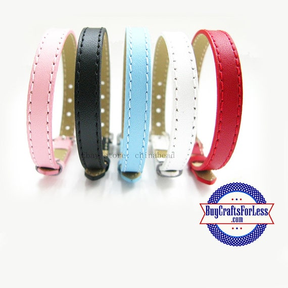 Split Leather BRACELET for 8mm Slider Letters and Charms +FREE Shipping & Discounts*