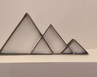 Steel & white resin mountains