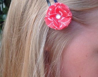 Red-fire hair-clip