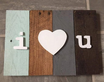 I Love You Rustic Wooden Decor Sign