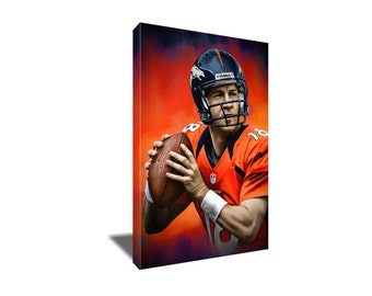 FREE SHIPPING Peyton Manning The Sheriff Portrait Canvas Art