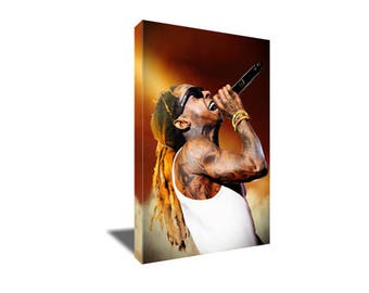 FREE SHIPPING Iconic Rap Hip Hop Star Lil Wayne Young Weezy Canvas Art