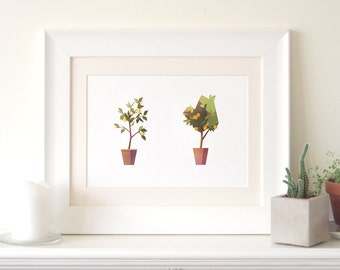Lemon Tree, Orange Tree Print