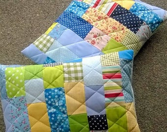 Scrappy Patchwork Cushion Pdf//home sweet home //gift