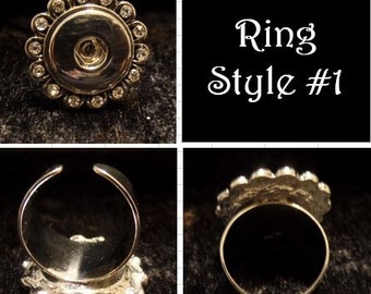 Rings for snap jewelry