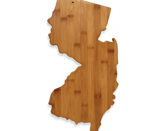 New Jersey State Bamboo Cutting Board