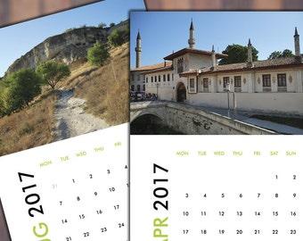 Ukraine wall calendar 2017 Desk Calendar 2017 Photo Calendar 2017 Printable Calendar Digital Calendar Monthly Calendar 2017 Calendar