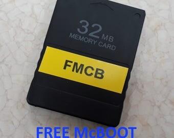 Free McBoot 1.953 FMCB Region Free on New 32MB PS2 Memory Card (esr, opl, hdl)