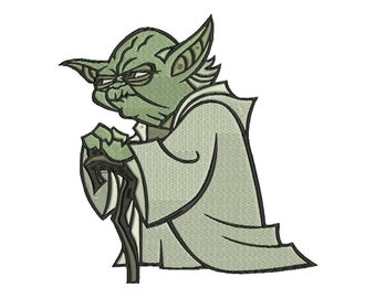 Yoda Embroidery Design - 4 sizes - 6 formats