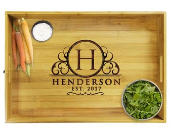 Serving Tray Wood, Engraved Serving Tray, Serving Tray Personalized, Engraved Serving Tray, Personalized Platter, Wooden Tray, Premium Tray