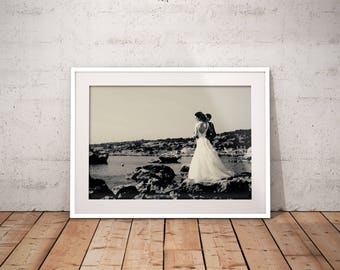 Instagram Filter Gotham Framed Fine Art Print Anniversary Print Wedding Fine Art Print Giclee Print Custom Wedding Print Artistic Print