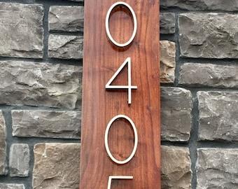 Modern House Address Plaque