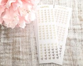 Six Bow Checklists Foiled | Planner stickers | Erin Condren