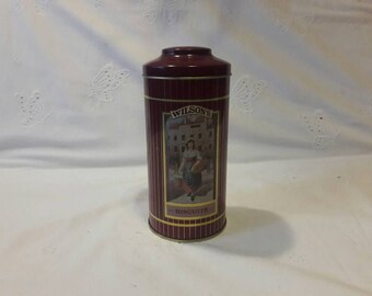 Vintage Wilsons Biscuits Tin Can